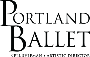 "The Portland Ballet logo: Text reads ""Portland Ballet"" Below is text reading ""Nell Shipman - Artistic Director"""